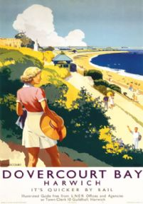 Dovercourt Bay, Harwich, Essex. LNER Vintage Travel poster by Percy Padden. 1941